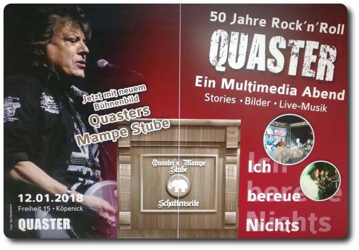 """Kommende Veranstaltungen """"Quaster -live- Ich bereue nichts"""""""